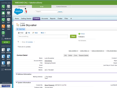 call centre salesforce integration