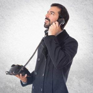 Using a landline