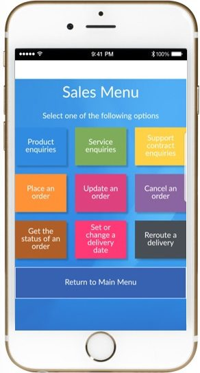 Contact Centre self service mobility