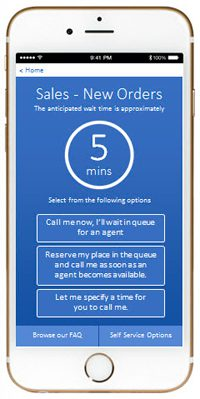 Contact centre call back option