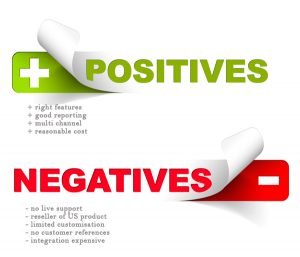 Positives/Negatives of a Contact Centre solution