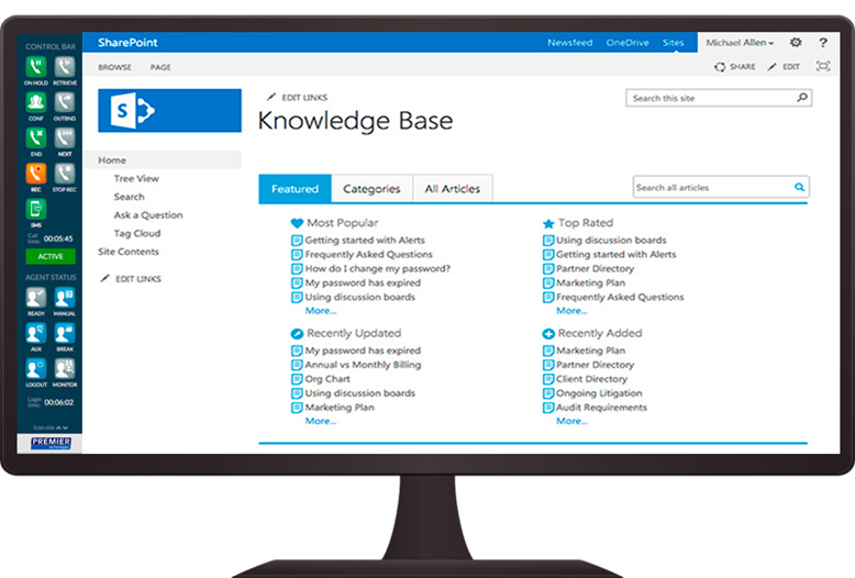 PCP integration with Knowledge Base